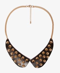 Peter Pan Collar Spiked Bib Necklace 8.80
