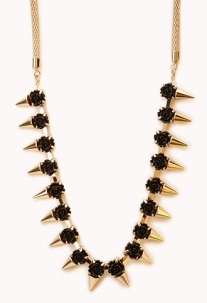 Spiked Rosette Necklace 12.80